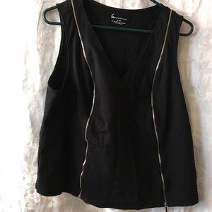 Lane Bryant top w/decorative zippers 14/16